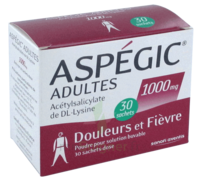 ASPEGIC ADULTES 1000 mg, poudre pour solution buvable en sachet-dose 30 à Paris