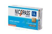 NICOPASS 1,5 mg Past sans sucre réglisse menthe Plq/36 à Paris