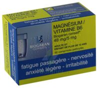 MAGNESIUM/VITAMINE B6 BIOGARAN CONSEIL 48 mg/5 mg, comprimé pelliculé à Paris