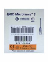 BD MICROLANCE 3, G25 5/8, 0,5 mm x 16 mm, orange  à Paris