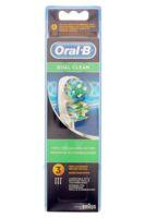 BROSSETTE DE RECHANGE ORAL-B DUAL CLEAN x 3 à Paris