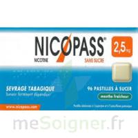 NICOPASS 2,5 mg Past menthe fraîcheur sans sucre Plq/36past à Paris