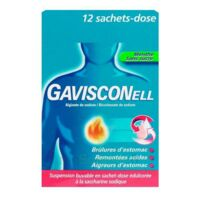 GAVISCONELL Suspension buvable sachet-dose menthe sans sucre 12Sach/10ml à Paris
