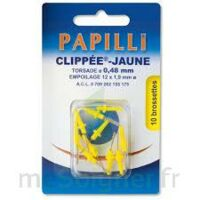 PAPILLI - CLIPPEE, jaune, sachet 10 à Paris